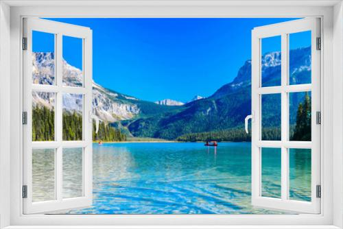 Emerald Lake,Yoho National Park in Canada,banner size